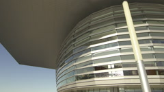 Panning down up Copenhagen Opera right side Stock Footage