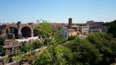 Palatino, Palatine hill, Collis Palatium, Mons Palatinus Stock Footage