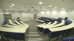 Lecture Theatre empty with tracking Stock Footage