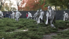 Korean war veterans memorial Focus Stock Footage