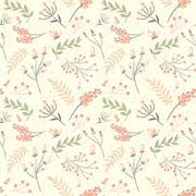 Stock Illustration of Elegant seamless pattern with flowers, vector illustration