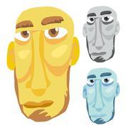 Old Man Head - stock illustration