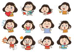 Stock Illustration of Girl acting cartoon