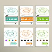 abstract color lines on a white background - stock illustration