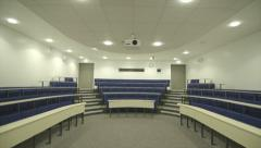University Lecture Hall Theatre Small Front tilt 4k Stock Footage