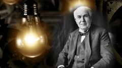 Thomas Edison - stock footage