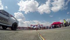4K motorsports, drag race challenge Stock Footage