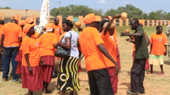POLITICAL RALLY IN SOUTH SUDAN, AFRICA Stock Footage