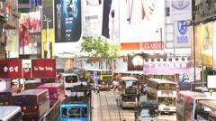 Causeway bay of Hong Kong - stock footage