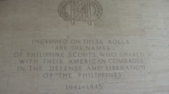 World War 2 Military Cemetery in Manilla, Philippines Stock Footage