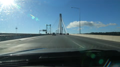 Driving across the Port Mann Bridge in Vancouver, BC. Stock Footage