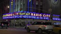 Radio City Music Hall, New York 4K Stock Footage