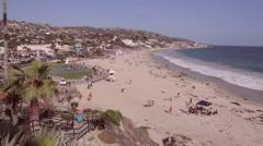 Laguna Beach Seaside View Stock Footage
