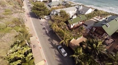 Aerial. Flying over the houses in Malibu - stock footage