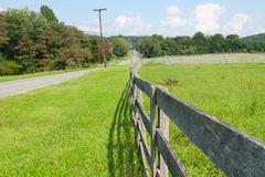View of the farmland. - stock photo