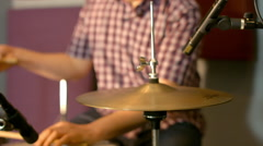 Drums Hi Heats Studio Session Stock Footage