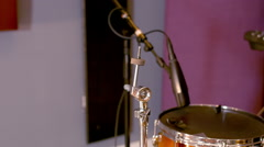 Acoustic Drums Cymbals  Set Up Stock Footage