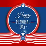 Stock Illustration of Happy Memorial day background