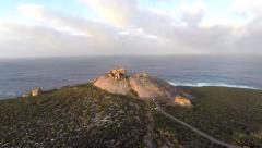aerial view of the remarkable rocks on kangaroo island on sunrise  - stock footage