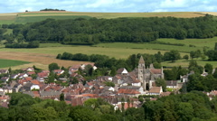 Small village in rural France Stock Footage