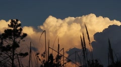 Stock Video Footage of Cumulus Nimbus Sunset timelapse