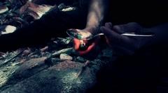Fire, heroin, Spoon - stock footage