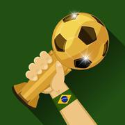 Soccer trophy for Brazil Stock Illustration