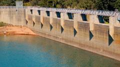 Looking Along The Dam At Mundaring Weir Near Perth, Australia Stock Footage