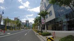 POV of Bonifacio Global City in Taguig City in Manila, Philippines. Stock Footage