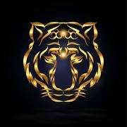 Abstract tiger Stock Illustration