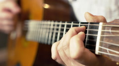 Recording Acoustic Guitar - stock footage