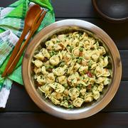 Tortellini Salad with Peas and Bacon - stock photo