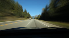 Rocky mountain driving. Time lapse. British Columbia. - stock footage