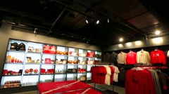 Spartak fan store. Stock Footage