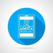 Contour vector icon for calorie control app Stock Illustration