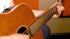 Acoustic Guitar Close Up - stock footage