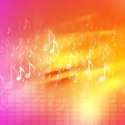 Music notes bright abstract background Stock Illustration