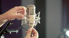 Studio Vocal Mic - stock footage