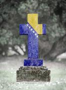 Stock Photo of Gravestone in the cemetery - Bosnia