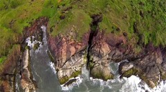Aerial shot of landscape transition. Stock Footage