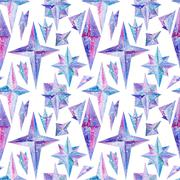Crystal Watercolor Pattern - stock illustration