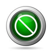 Forbidden icon. Internet button on white background. - stock illustration