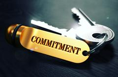 Keys with Word Commitment on Golden Label - stock illustration