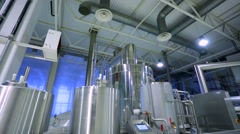 Workshop in Moscow Brewing Company plant. Stock Footage