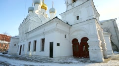 Church of Saint Nicholas in Pyzhy Stock Footage