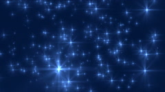 Glittering Shiny Stars Loop - stock footage