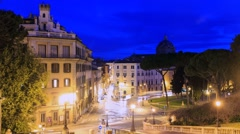 Piazza D'Aracoeli at sunrise, Zoom. Rome, Italy. Time Lapse. 1280x720 Stock Footage