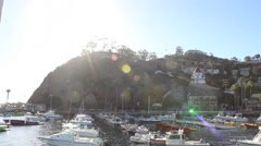 Catalina Island Beach Harbor Pan03 Stock Footage