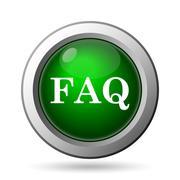 FAQ icon. Internet button on white background. - stock illustration