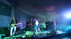 Musicians perform during the Internet Media Awards (IMA) ceremony - stock footage